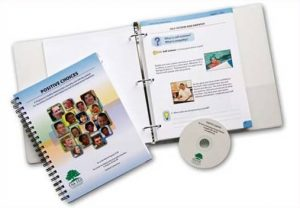 Image of Positive Choices curriculum binder with teacher manual and CD-Rom