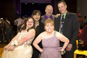 Students happy at prom